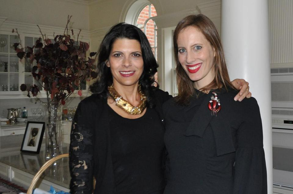 Michelle Finamore (left) and Liz Goldwyn at the Museum of Fine Arts's Fashion Council event.